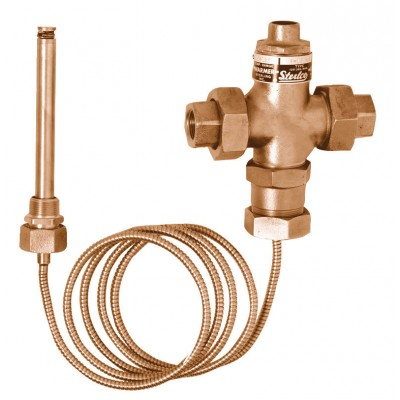 "D-150-G 1/2"" NPT Brass Temperature Control Valve for Heating"
